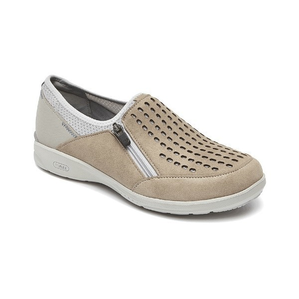 WOMEN'S TRUEFLEX SLIP ON SAND NUBUCK CASUAL Thumbnail