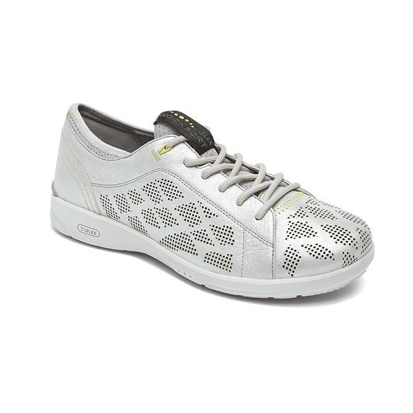WOMEN'S TRUFLEX LACE TO TOE SILVER CASUAL Thumbnail