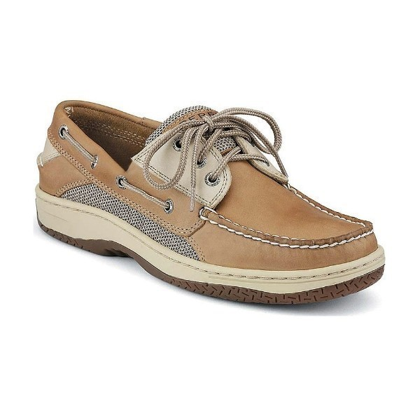 MEN'S BILLFISH TAN/BEIGE 3-EYELET BOAT SHOE Thumbnail
