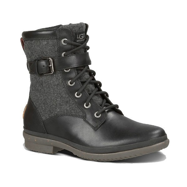 WOMEN'S KESEY BLACK LEATHER WATERPROOF BOOT Thumbnail