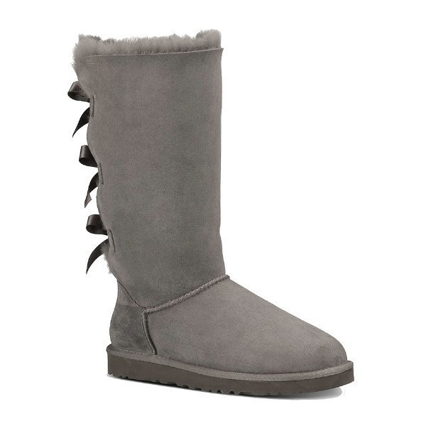 WOMEN'S BAILEY BOW TALL GREY SUEDE BOOT Thumbnail