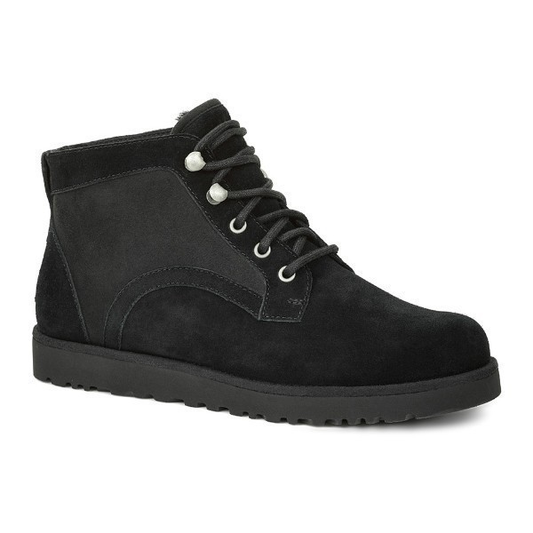 WOMEN'S BETHANY BLACK SUEDE LACE BOOT Thumbnail