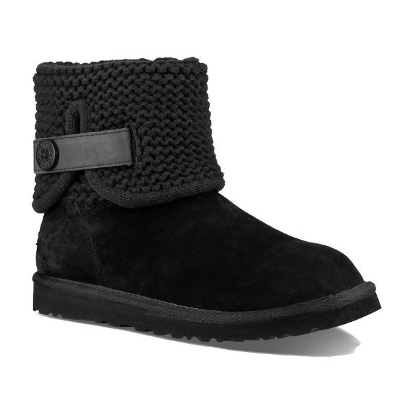 WOMEN'S SHAINA BLACK SUEDE/KNIT BOOT Thumbnail
