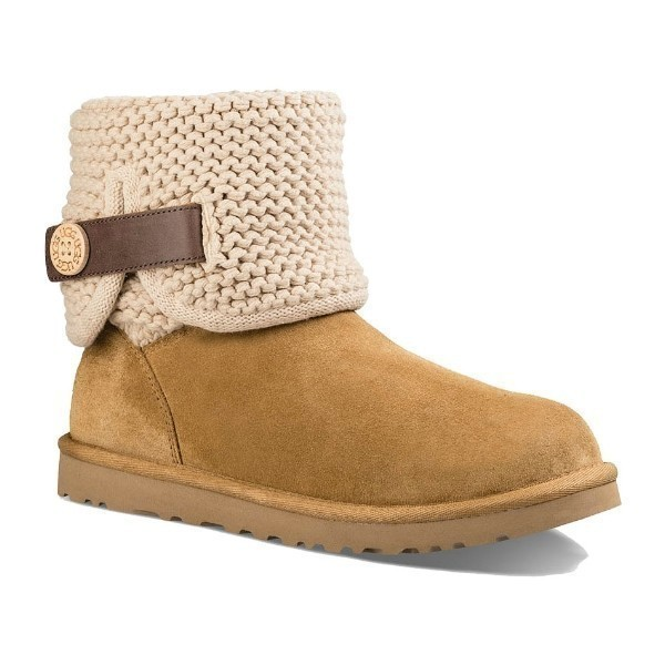 WOMEN'S SHAINA CHESTNUT SUEDE/KNIT BOOT Thumbnail