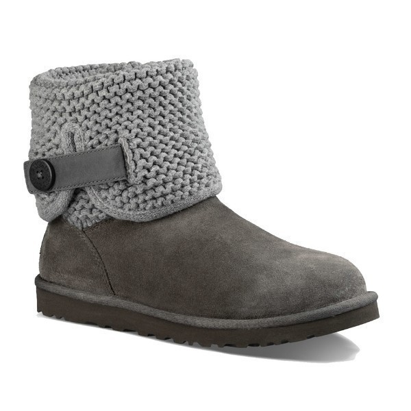 WOMEN'S SHAINA GREY SUEDE/KNIT BOOT Thumbnail