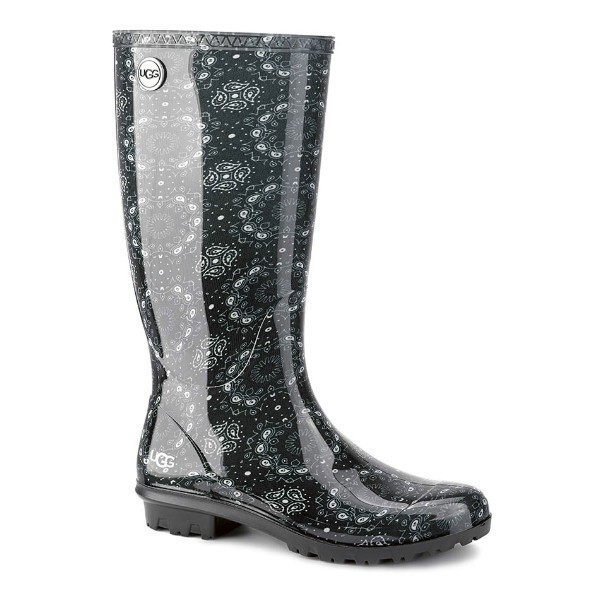WOMEN'S SHAYE BANDANA BLACK RUBBER RAIN BOOT Thumbnail