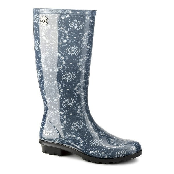 WOMEN'S SHAYE BANDANA BLUE RUBBER RAIN BOOT Thumbnail