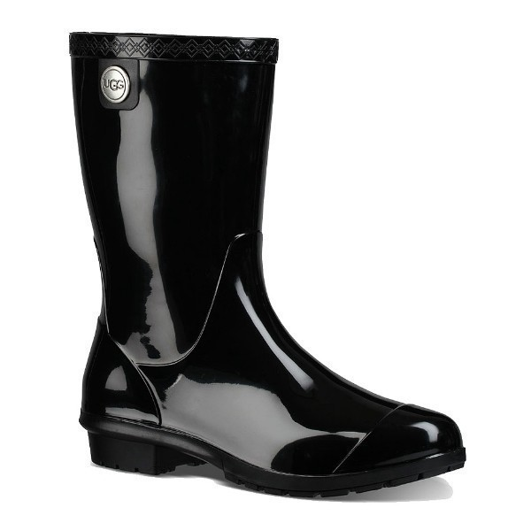 WOMEN'S SIENNA BLACK RUBBER RAIN BOOT Thumbnail