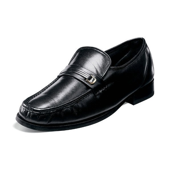 MEN'S DANCER BLACK LEATHER DRESS SLIP-ON Thumbnail