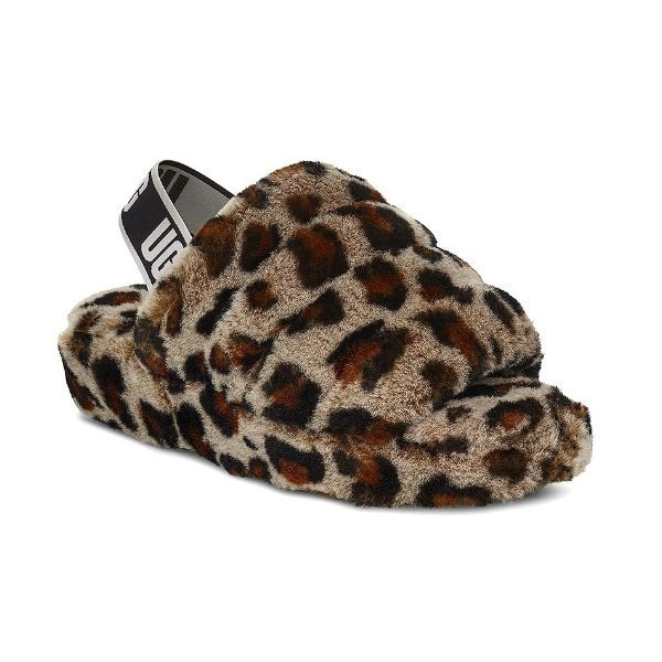 WOMEN'S FLUFF YEAH LEOPARD SLIDE SLIPPER Thumbnail