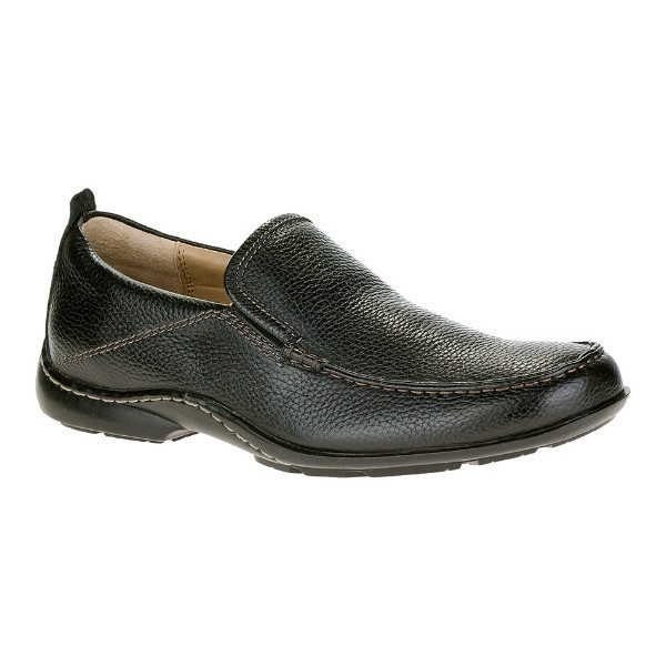 MEN'S GT BLACK LEATHER MOC TOE SLIP-ON Thumbnail