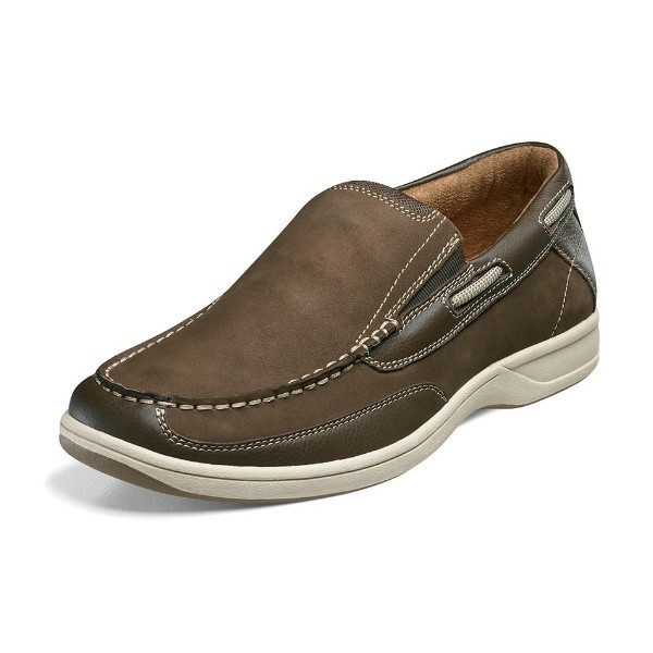 MEN'S LAKESIDE SLIP-ON BROWN NUBUCK CASUAL Thumbnail