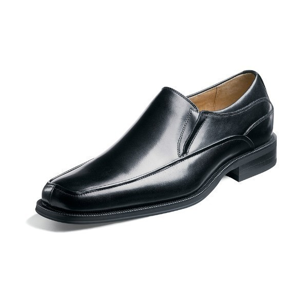 MEN'S CORVELL BLACK LEATHER DRESS SLIP-ON Thumbnail