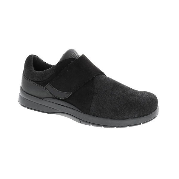 WOMEN'S MOONWALK BLACK STRAP COMFORT SHOE Thumbnail