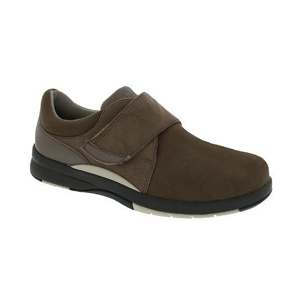 WOMEN'S MOONWALK BROWN STRAP COMFORT SHOE Thumbnail