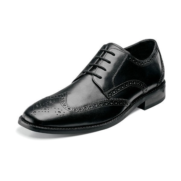 MEN'S CASTELLANO WING TIP BLACK DRESS LACE Thumbnail