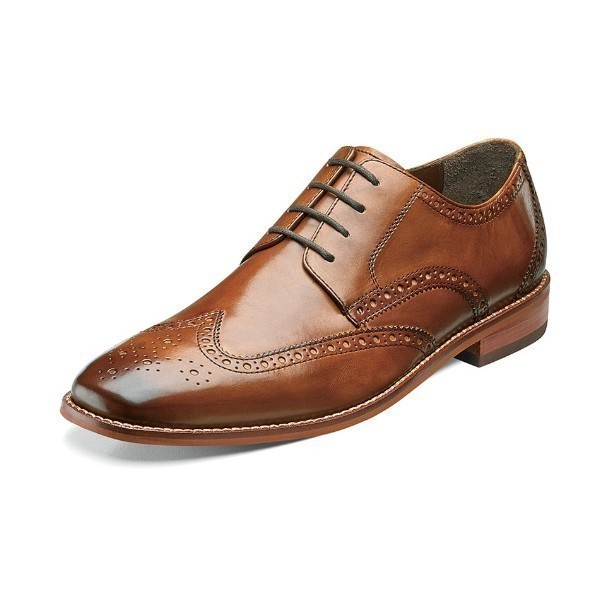 MEN'S CASTELLANO WING TIP SADDLE TAN LACE Thumbnail