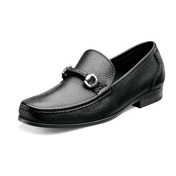 MEN'S FELIX BIT BLACK LEATHER SLIP ON  Thumbnail