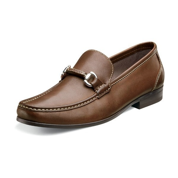 MEN'S FELIX BIT BROWN LEATHER SLIP-ON  Thumbnail