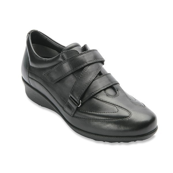 WOMEN'S CAIRO BLACK LEATHER ORTHOPEDIC SHOE Thumbnail