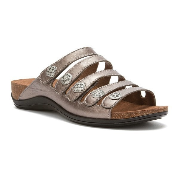 WOMEN'S JANIE PEWTER METALLIC SANDAL Thumbnail