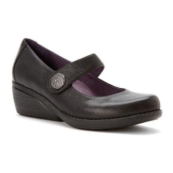 WOMEN'S ADELLE BLACK NAPPA DRESS WEDGE Thumbnail