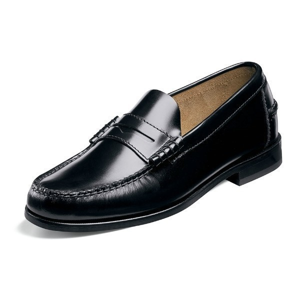 MEN'S BERKLEY BLACK LEATHER PENNY LOAFER Thumbnail