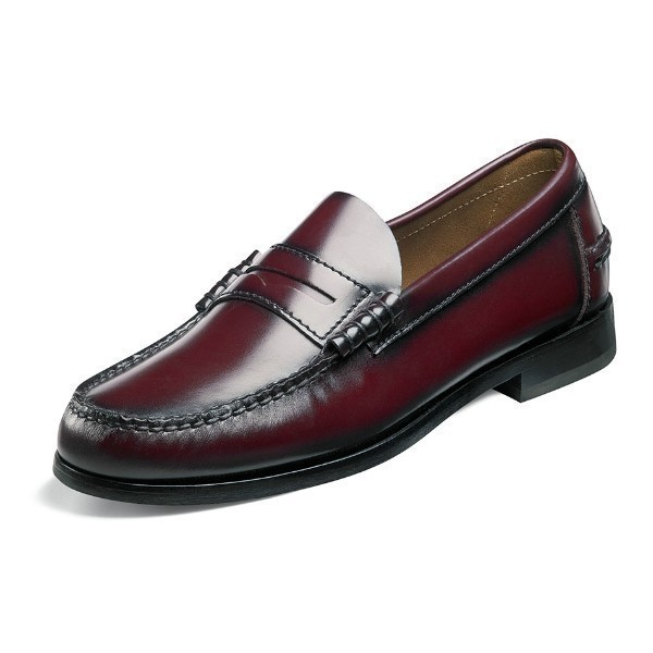 MEN'S BERKLEY BURGUNDY LEATHER PENNY LOAFER Thumbnail