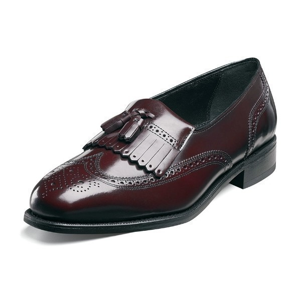 MEN'S LEXINGTON BURGUNDY WING TIP SLIP-ON Thumbnail