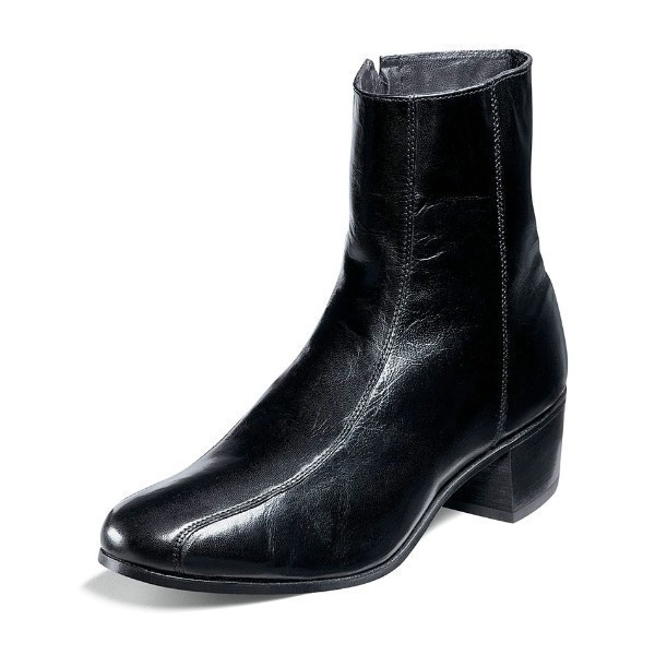 MEN'S DUKE BLACK LEATHER DRESS BOOT Thumbnail