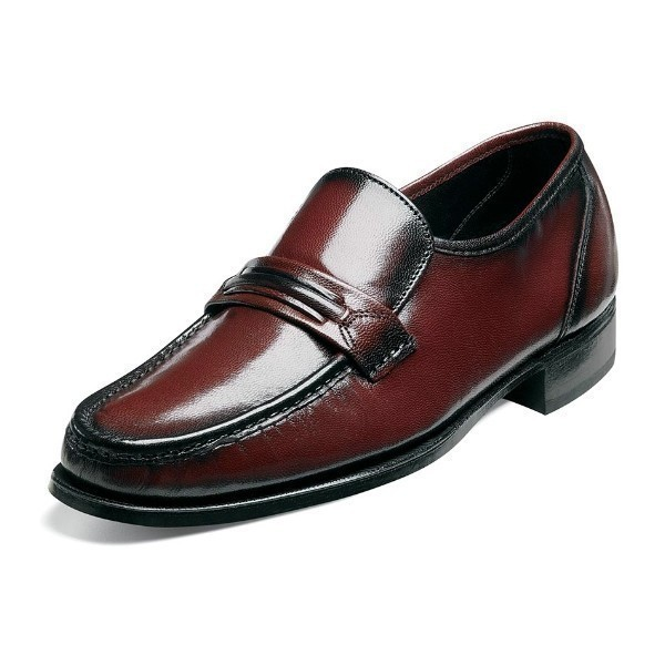 MEN'S COMO BLACK CHERRY MOC TOE SLIP-ON Thumbnail