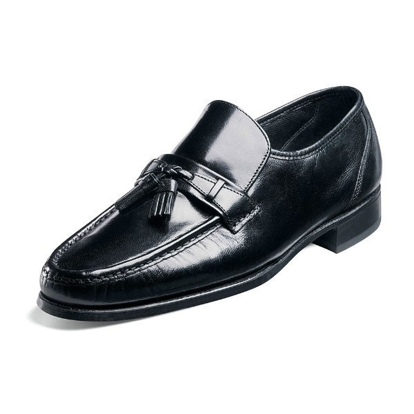 MEN'S COMO BLACK MOC TOE TASSEL SLIP-ON Thumbnail