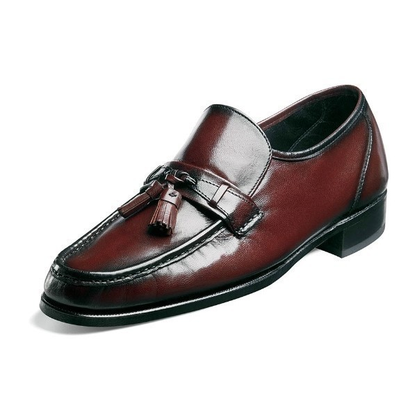 MEN'S COMO BLACK CHERRY MOC TOE TASSEL Thumbnail