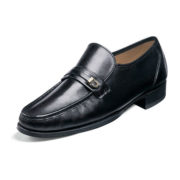 MEN'S IMPERIAL COMO BLACK MOC TOE SLIP-ON Thumbnail