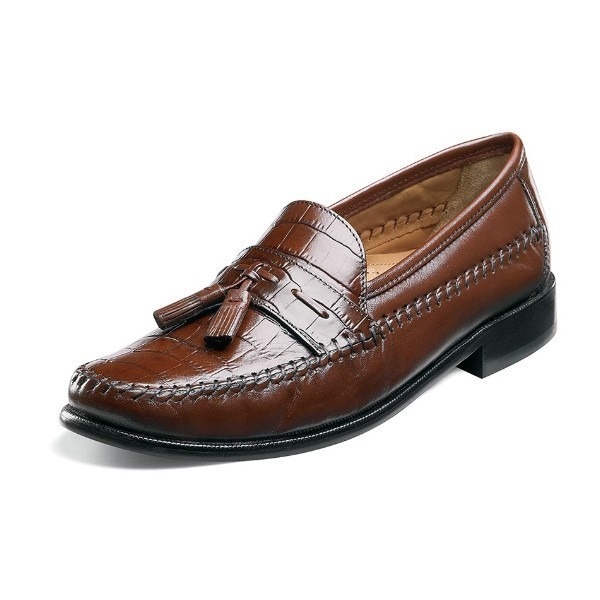 MEN'S PISA COGNAC MOC TOE TASSEL SLIP-ON Thumbnail