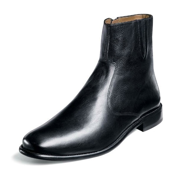 MEN'S HUGO BLACK LEATHER PLAIN TOE BOOT Thumbnail