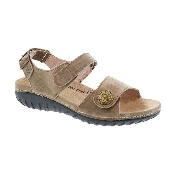 WOMEN'S WALKABOUT STONE LEATHER SANDAL Thumbnail
