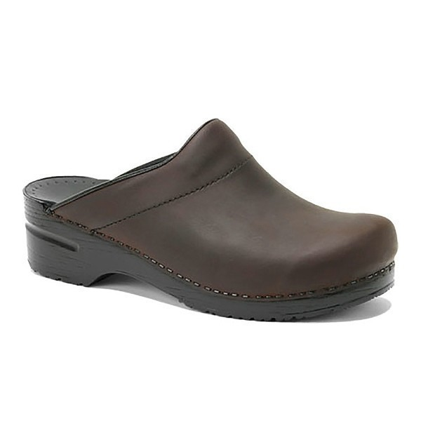 MEN'S KARL ANTIQUE BROWN OILED CLOG Thumbnail