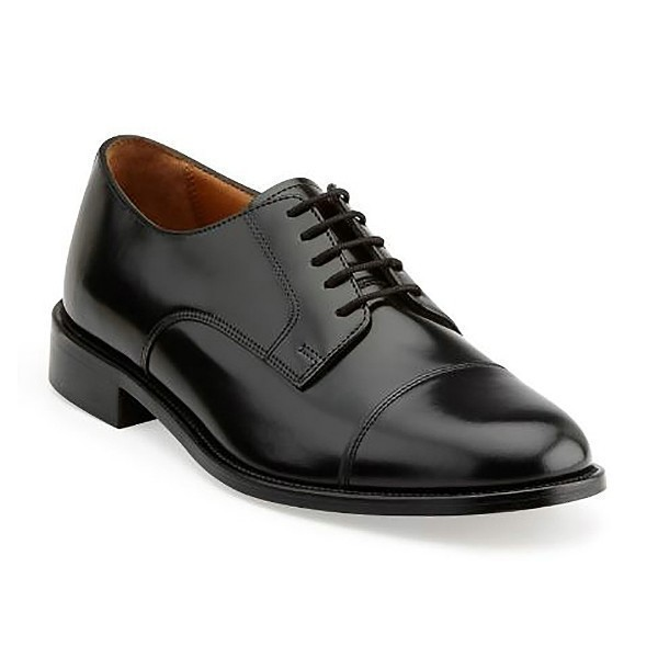 MEN'S ANDOVER BLACK LEA CAP-TOE DRESS SHOE Thumbnail