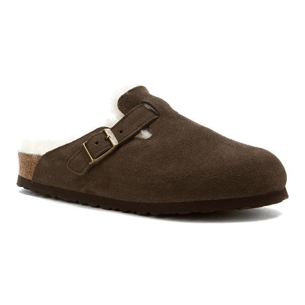 WOMEN'S BOSTON MOCHA SHEARLING CLOG Thumbnail