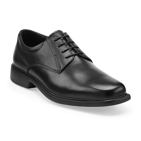 MEN'S WENDELL BLACK LEA PLAIN-TOE DRESS SHOE Thumbnail