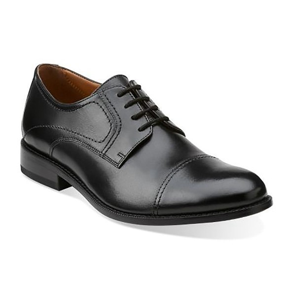 MEN'S CALHOUN LIMIT BLACK LEA CAP-TOE DRESS Thumbnail