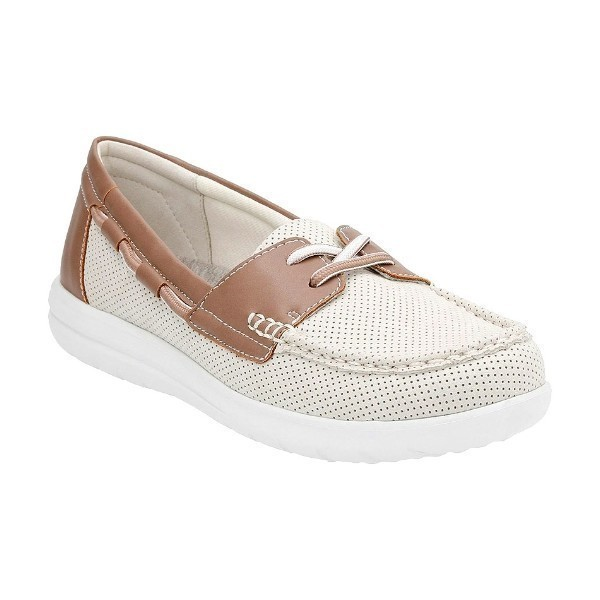 WOMEN'S JOCOLIN VISTA OFF WHITE BOAT SHOE Thumbnail