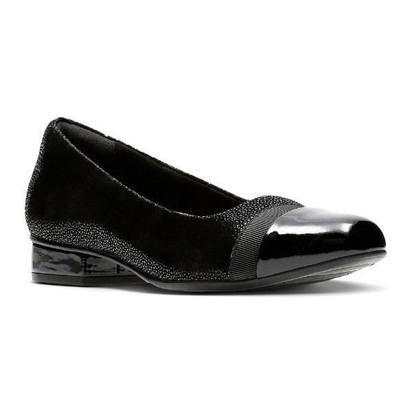 WOMEN'S KEESHA ROSA BLACK INTEREST DRESS PUMP Thumbnail