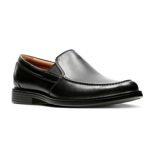 MEN'S UN.ALDRIC BLACK LEATHER DRESS SLIP-ON Thumbnail