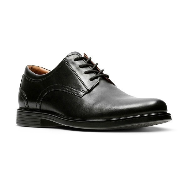 MEN'S UN.ALDRIC BLACK LEATHER DRESS LACE-UP Thumbnail