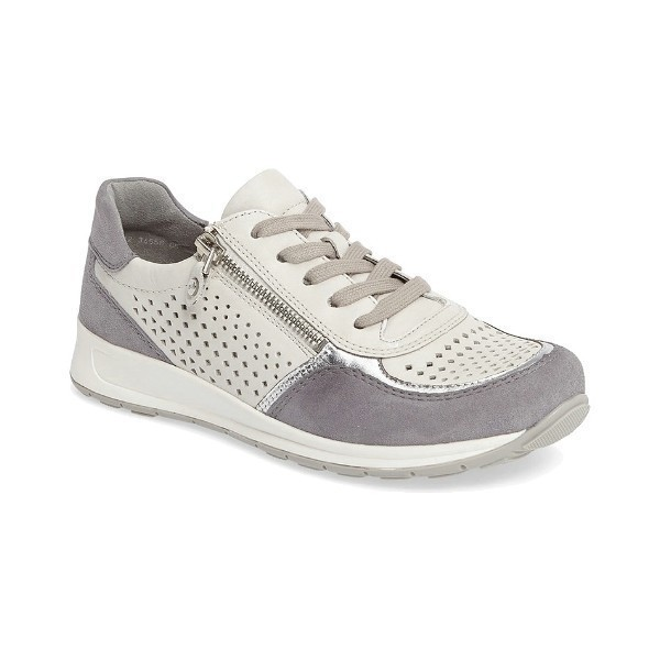 WOMEN'S OLIVIA GREY/SILVER CASUAL SNEAKER Thumbnail