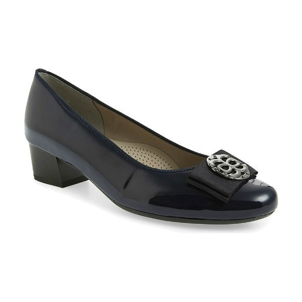 WOMEN'S NICOLETTE BLUE LOW HEEL DRESS SHOE Thumbnail