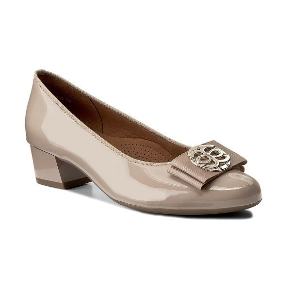 WOMEN'S NICOLETTE NUDE LOW HEEL DRESS SHOE Thumbnail