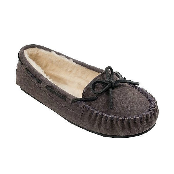 WOMEN'S CALLY GREY SUEDE SLIPPER Thumbnail